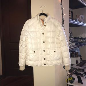 Tory Burch white puffer jacket